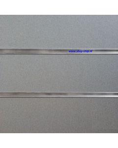 100 mm Alu geborsteld slatwall met profielen