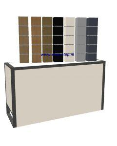 Tafel display in slatwall  H600xB200xD200 mm